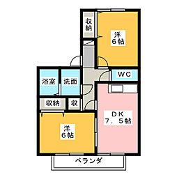 Hide out御殿場C[2階]の間取り