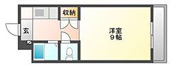 岡山県岡山市北区今7丁目の賃貸マンションの間取り