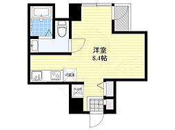DterraceTokyo 3階ワンルームの間取り