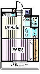 埼玉県さいたま市桜区田島1丁目の賃貸マンションの間取り