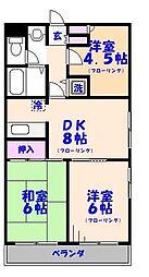 カザリヤマンションA棟[4階]の間取り