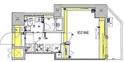 東武伊勢崎線 東向島駅 徒歩7分の賃貸マンション 11階1Kの間取り