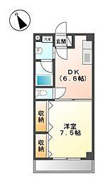 ミアカーサ矢田[2階]の間取り