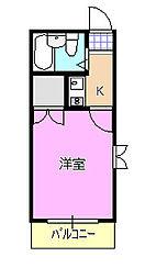 サンパレス湘南[2階]の間取り