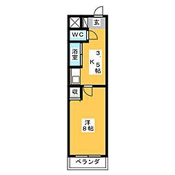 アイルーム亀山上道野[2階]の間取り
