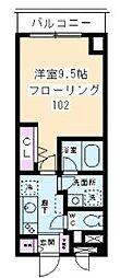 東京都目黒区上目黒2丁目の賃貸マンションの間取り
