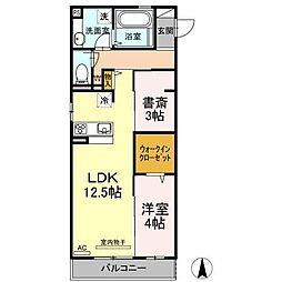 D-roomセレーノ[2階]の間取り