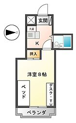 アロンサンシャイン[2階]の間取り