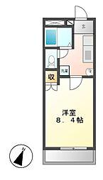 レジデンス赤坂[2階]の間取り