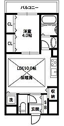 Mid Court新大阪[6階]の間取り