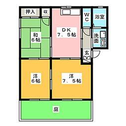 ガーデンプレイスRINO III[1階]の間取り