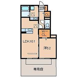 和歌山県和歌山市今福5の賃貸アパートの間取り