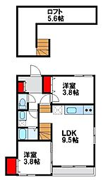 maison de ballon fukutu(メゾン ド[2階]の間取り