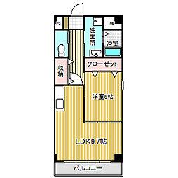 愛知県名古屋市中川区中野本町2丁目の賃貸マンションの間取り
