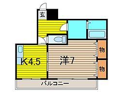 グローバルハイツ西川口[5階]の間取り