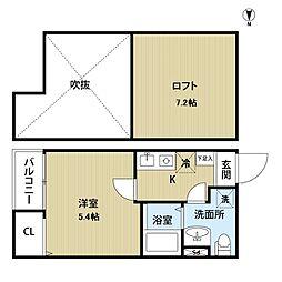 愛知県名古屋市中村区森田町3丁目の賃貸アパートの間取り