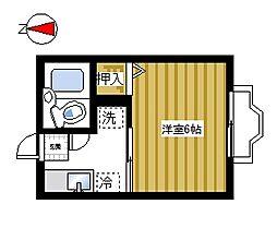 シティハイムいちご荘[205号室]の間取り