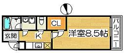 フジパレス浜寺ノースI番館[3階]の間取り