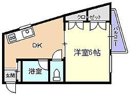 平田マンション[1階]の間取り