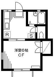 東京都世田谷区桜上水4丁目の賃貸アパートの間取り