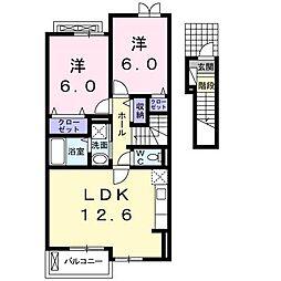 ランドマーク桜井II[2201号室]の間取り