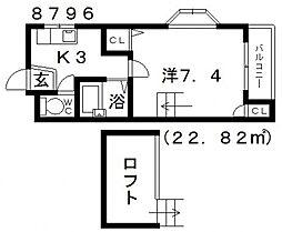 松原TKDハウス[401号室号室]の間取り