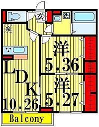 (仮)D−room加賀[3階]の間取り