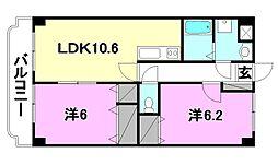 ユーミーKAWAKUBO[506 号室号室]の間取り