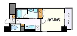 名古屋市営桜通線 中村区役所駅 徒歩7分の賃貸マンション 3階1Kの間取り