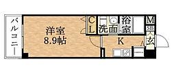 プロシード京橋[1007号室]の間取り