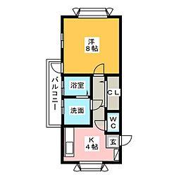 レイクビレッジIV[1階]の間取り