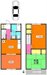 [テラスハウス] 神奈川県川崎市宮前区平5丁目 の賃貸【/】の間取り