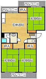 松ヶ浦コーポ[4階]の間取り