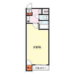 矢野花園ハイツ[2階]の間取り