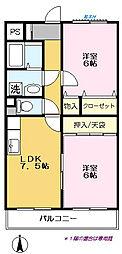 弥藤壱番館[107号室]の間取り