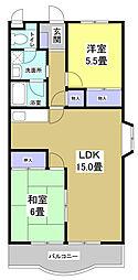 コンフォートシティFUKUROI[2階]の間取り