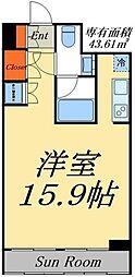 東京メトロ日比谷線 入谷駅 徒歩10分の賃貸マンション 4階ワンルームの間取り