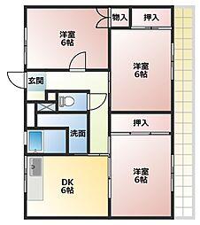 ビレッジハウス五所2号棟[1階]の間取り
