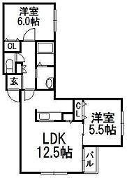 北海道札幌市白石区本通17丁目南の賃貸マンションの間取り