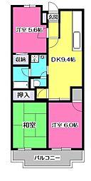 東京都東大和市中央4丁目の賃貸マンションの間取り