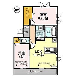 仮称)D-room畝田中[2階]の間取り