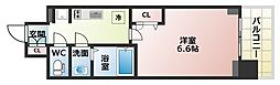 Osaka Metro谷町線 四天王寺前夕陽ヶ丘駅 徒歩6分の賃貸マンション 4階1Kの間取り