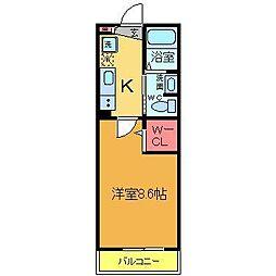 エルスタンザ東綾瀬公園[1階]の間取り