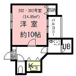 岐阜県岐阜市本荘の賃貸アパートの間取り