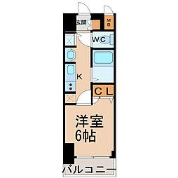 プレサンス名古屋STATIONビーフレックス[305号室]の間取り