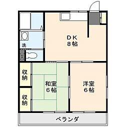メゾンテイIII[1階]の間取り