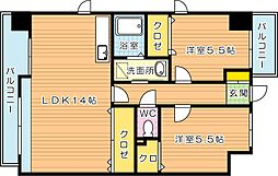 ラファミーユ貴船台[4階]の間取り