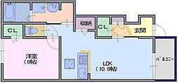 クレールコート2[1階]の間取り