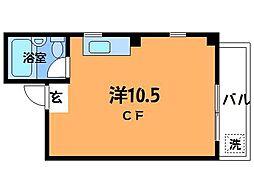 つつじヶ丘ビレッヂ[3階]の間取り