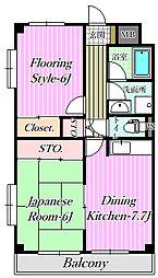 シンエイマンション[2階]の間取り